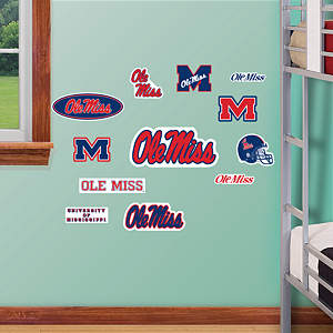 Ole Miss Rebels - Team Logo Assortment Fathead Wall Decal